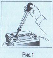Ареометр для электролита и тосола АЭТ с устройством для отбора жидкости (набор автомобилиста)